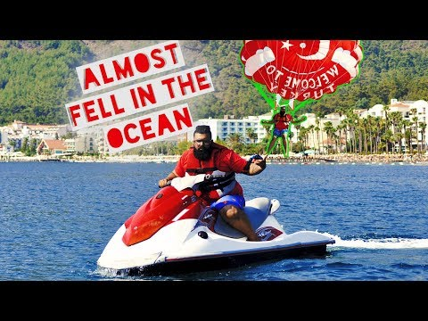I almost flew off the Jet ski and I went Parasailing | Travelling to Turkey | PART 4 | Vlog 9