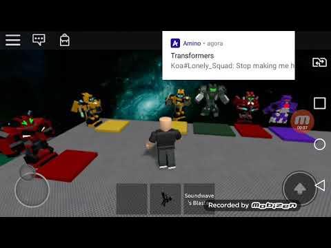 Soundwave Roblox Map Roblox Transformers Autobots Cacador Youtube
