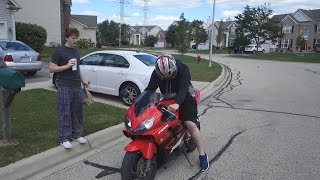 FIRST TIME RIDING A MOTORCYCLE