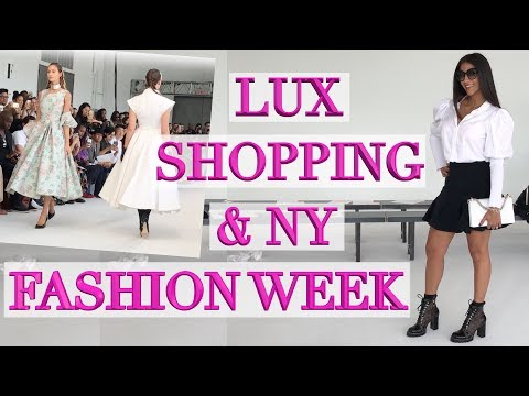 Come to NY Fashion Week, Shop at Louis Vuitton, Gucci & Dior With Me!