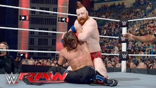 AJ Styles vs. Sheamus: Raw, April 25, 2016