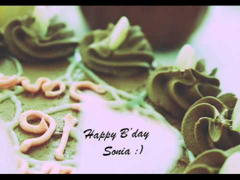 Happy Birthday Sonia Youtube