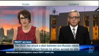 ABC News 24 Virginia Trioli with John Blaxland on Australians in Ukraine 1 Aug 2014