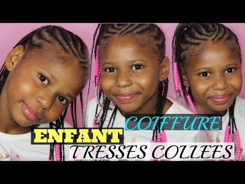 Coiffure Enfant Tresses Collées Avec Des Perles Cheveux Afro