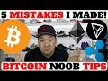 I LOST $1000'S IN BITCOIN! 5 IMPORTANT TIPS FOR CRYPRO BEGINNERS!