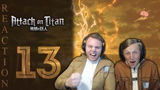 SOS Bros React - Attack on Titan Season 3 Episode 13 - WE. ARE. BACK!!!