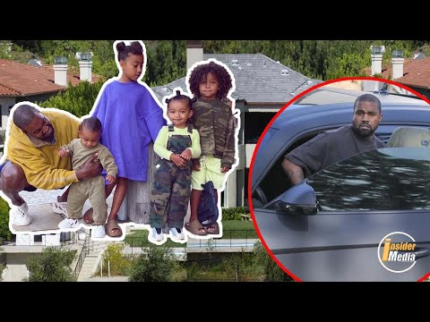 Kanye West is back with a visit to him children … amidst Kim's divorce being pushed high.