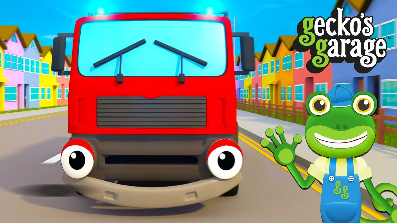 Fire Truck Song For Kids | Songs For Children | Gecko's Garage