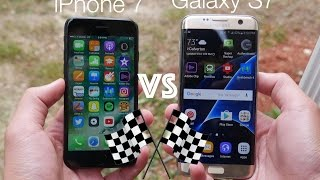 iPhone 7 vs Galaxy S7 Edge Speed Test!
