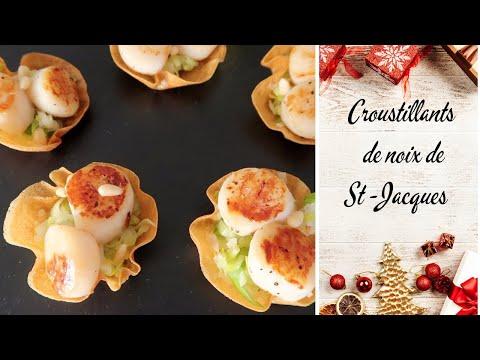 🎅-recette-de-noËl-croustillants-noix-de-saint-jacques,-poireaux-et-pignons-de-pins- -repas-de-noËl