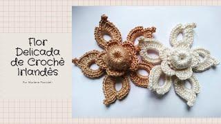 Flor Delicada De Crochê Irlandês