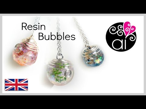 Chanel resin necklace how to cast resin sphere tutorial spheres diy resin bubbles solutioingenieria