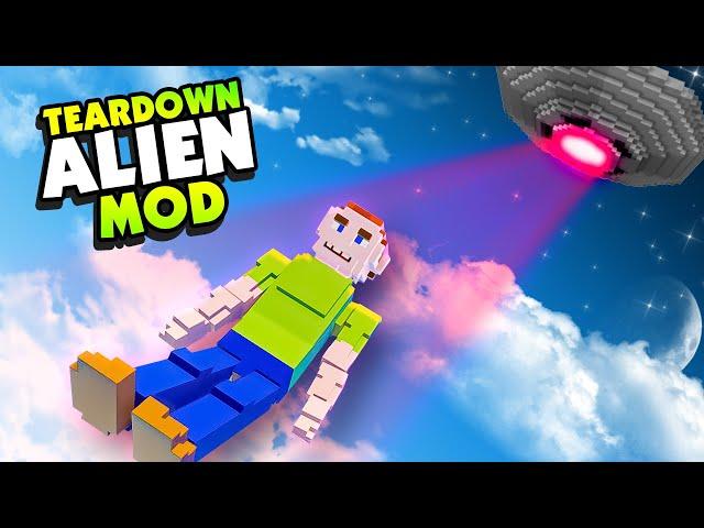 New HUMANS Ragdoll Mod and Alien UFO! - Teardown Mods