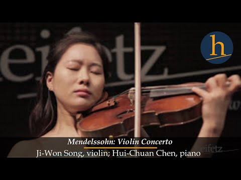 Heifetz 2015: Ji-Won Song & Hui-Chuan Chen | Mendelssohn: Violin Concerto (complete)