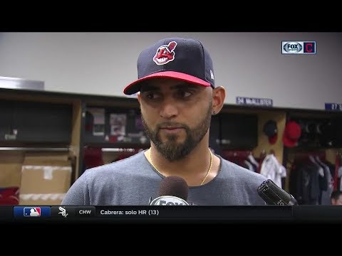 Cleveland Indians starter Danny Salazar's number one focus was attacking the zone in his return