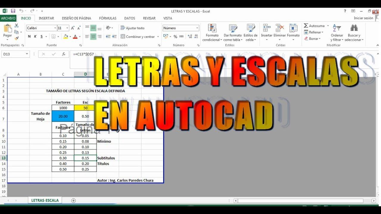 CONFIGURAR TAMAÑO DE LETRA SEGUN ESCALA EN AUTOCAD - YouTube