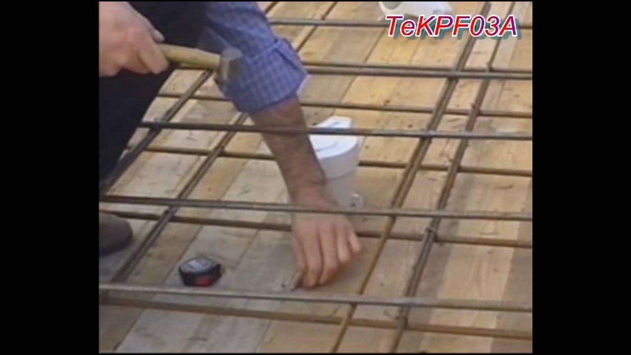 installazione scatola porta faretto tekpf03 in un soffitto di