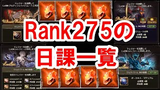 Rank275の日課一覧 【ゆっくり解説】【グラブル】 / Daily Routine of Rank275 [GBF]