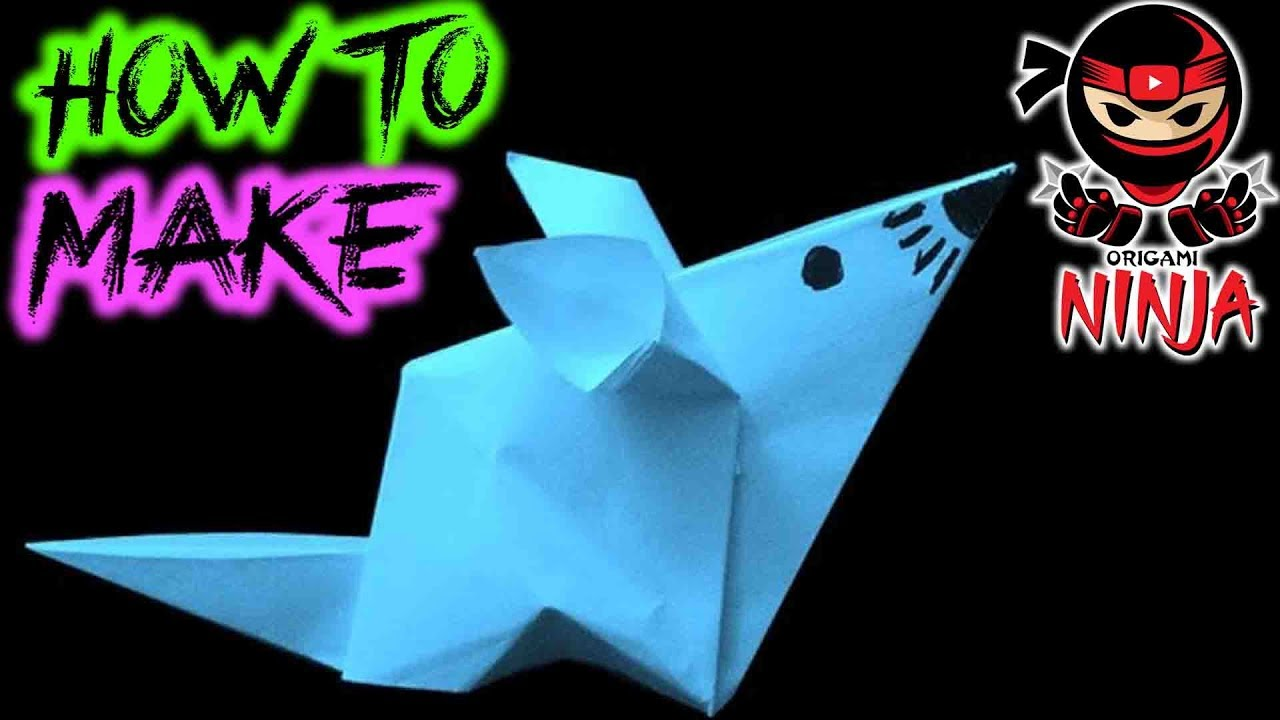 How to make origami paper mouse youtube how to make origami paper mouse jeuxipadfo Image collections