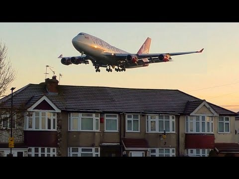 BIG PLANES flying LOW Over Houses | London Heathrow Plane Sp