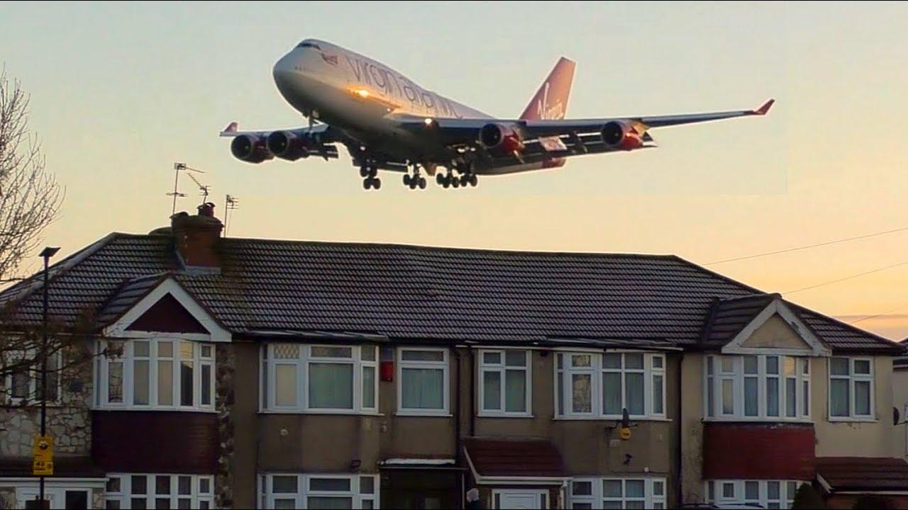 BIG PLANES flying LOW Over Houses | London Heathrow Plane Spotting