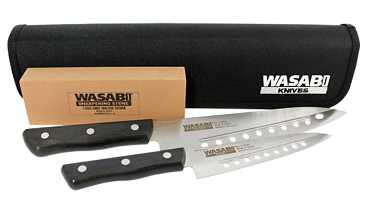 wasabi kitchen knife set youtube