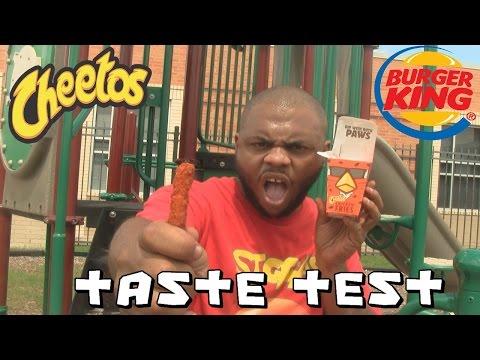 BK'S CHEETOS CHICKEN FRIES TASTE TEST - BLACK MAN EATS  @SIGGAS