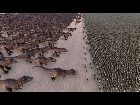 1.000 T-REX vs 100.000 ZOMBIES - Ultimate Epic Battle Simulator