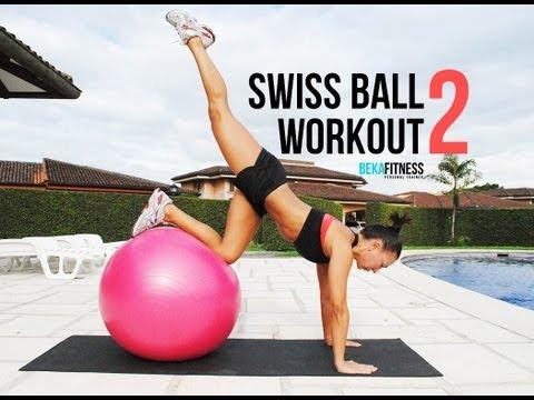 Swiss ball workout #2 Rebeca Martinez