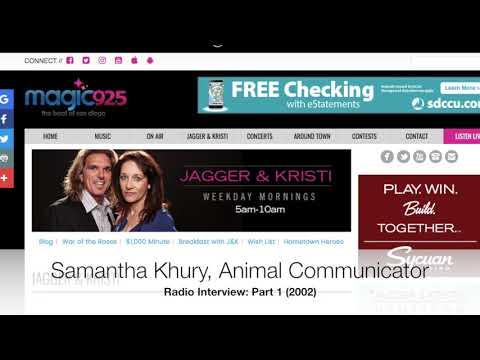 (Part 1) Samantha Khury, Animal Communicator On Radio 94.1 FM