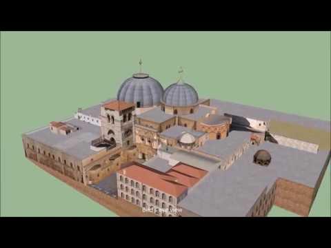 Visita Da Igreja Do Santo Sepulcro Em Jerusalém, Israel