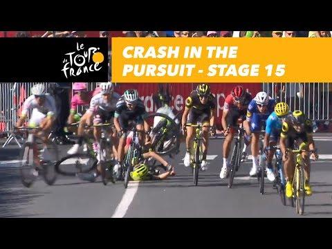 Crash in the pursuit - Stage 15 - Tour de France 2018