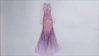 HOW TO DRAW beautiful evening dress // How to draw dresses