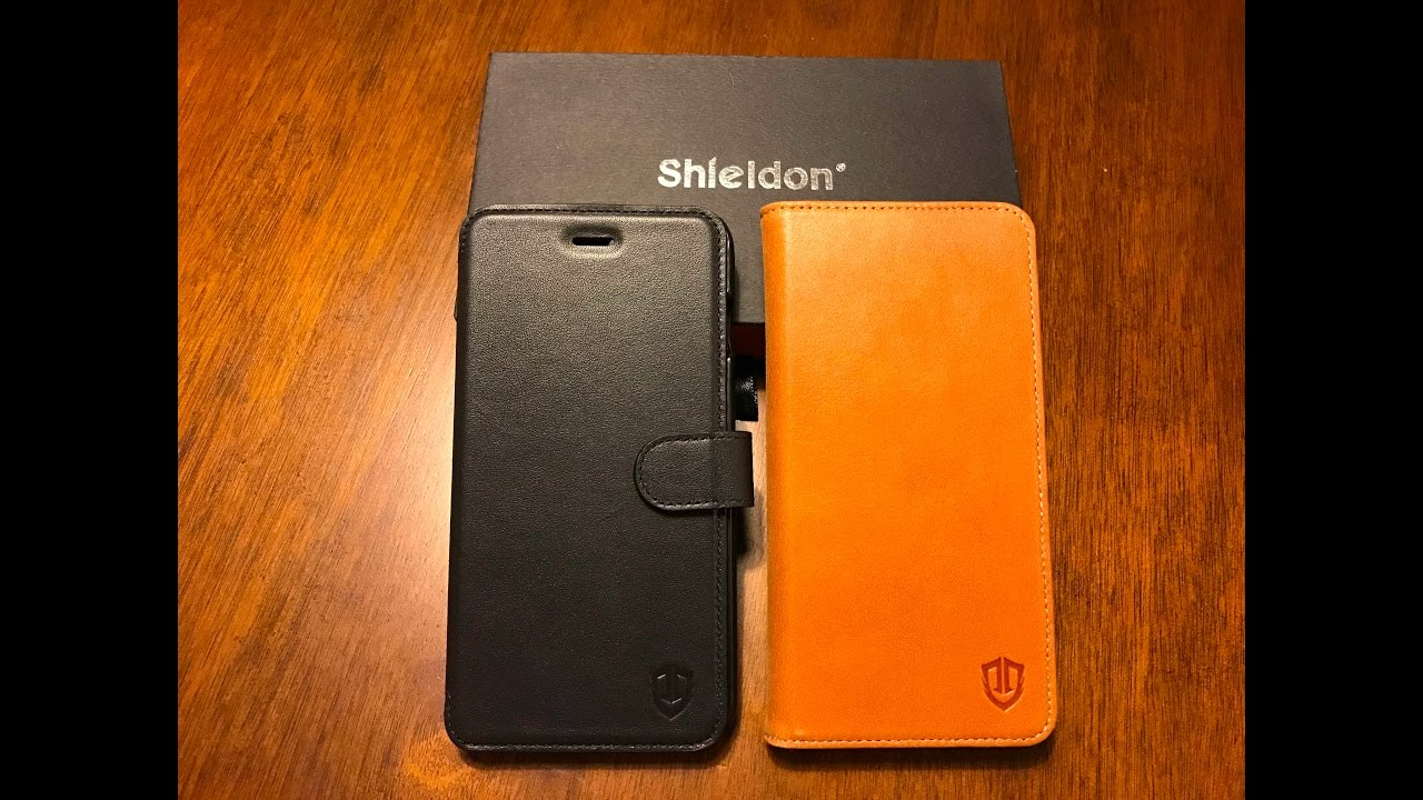 Shieldon Leather Wallet Cases For Iphone 7 Plus Best Wallet Case Youtube
