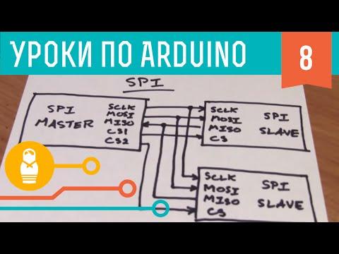 Видеоуроки по Arduino. Интерфейсы SPI (8-я серия, ч1)