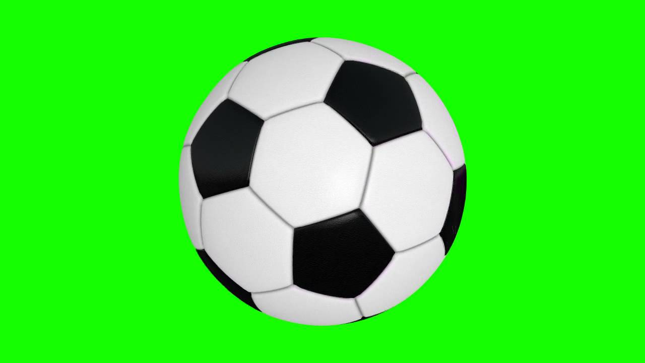 soccer ball 02 view in green screen free stock footage