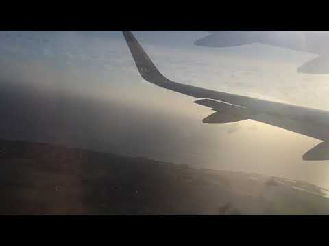 Amazing view from aircraft! Scandinavian Airline Flight - Copenhagen to London Airport