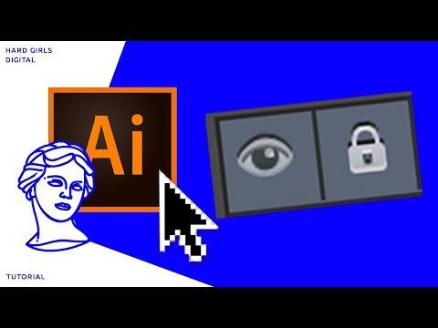 Закрепление нижнего слоя | Adobe illustrator | Уроки Adobe | tutorial illustrator