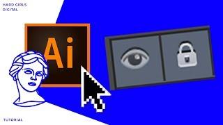 Закрепление нижнего слоя | Adobe illustrator | Дизайн уроки