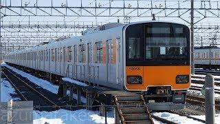 【東武50050系 51068F 休車から2年間経過】東武 50050系 休車51068Fほか車庫に留置中の編成。その他1819Fと352F紅白並びなど