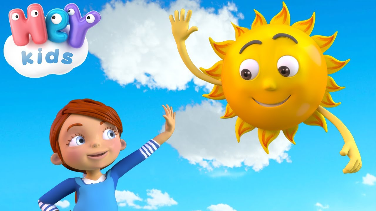Mr Sun, Sun, Mr Golden Sun ☀️ The Sun song for kids and more Nursery Rhymes by HeyKids