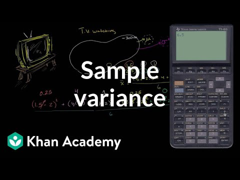 Sample variance | Descriptive statistics | Probability and Statistics | Khan Academy