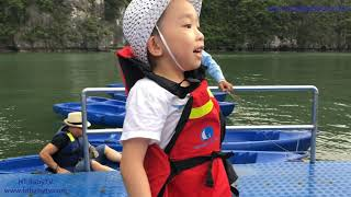 Trip At Largest Cruises 2 Visit Sung Sot Cave,Kayak   Du Thuyền Đẹp Nhất Vịnh Hạ Long   HT BabyTV ✔︎