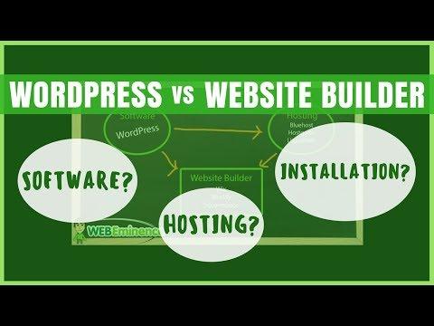 WordPress vs Website Builder - Hosting, Website, and Software SETUP COMPARISON