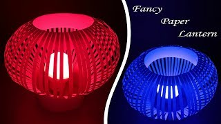 How to Make Fancy Paper Lantern by Very Easy Method (Diwali and Christmas Crafts) : DIY