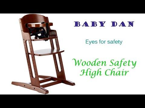 BabyDan Wooden Safety High Chair