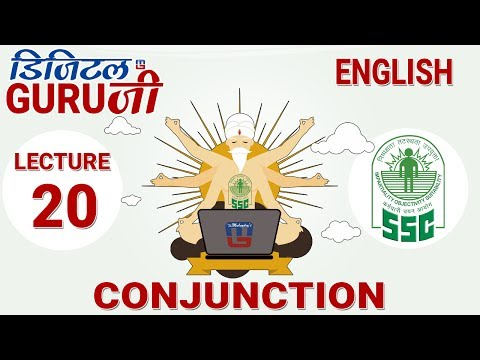 CONJUNCTION | L20 | ENGLISH |  SSC CGL 2017 | FULL LECTURE I