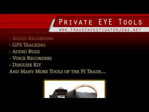 Spy Private Investigator Tools & PI Surveillance Equipment