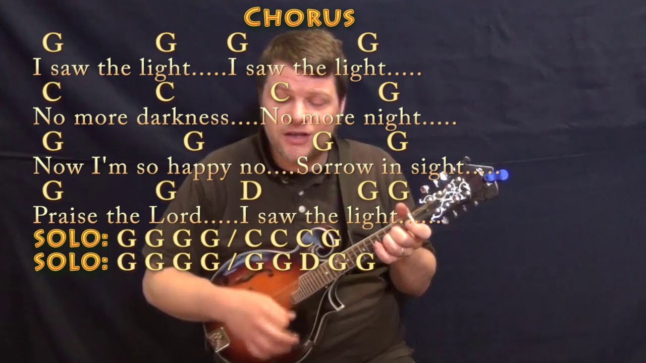I Saw The Light Hank Williams Mandolin Cover Lesson In G With