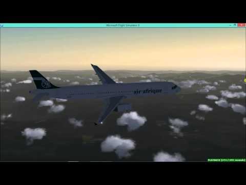 Flight Simulator X - FSX - Air Afrique B737 and A321